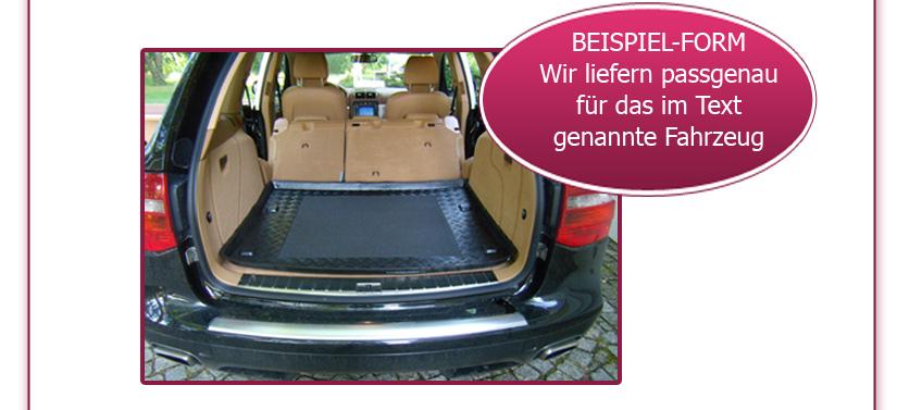 ab 10//2009 bis heute Kofferraumwanne mit Anti-Rutsch für BMW 5er GT F07